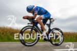 Nils Frommhold competes during the bike leg at Challenge Roth…