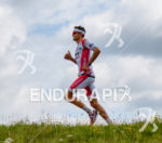 Jan Frodeno competes during the run leg at Challenge Roth…