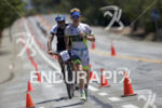 Kyle Buckingham maintaining 1st place during the run at the…
