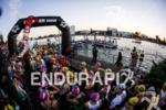 Athletes waiting for their rolling start at Ironman 70.3 Vichy…