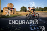 Age group athlete during the bike leg of the Ironman…