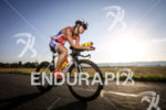 Brooke Brown  during the bike leg at Ironman Vichy in…