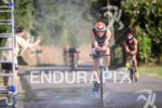 Trévor Delsaut (FRA) during the bike leg at Ironman Vichy…