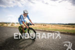Andreas Niedrig (DEU) leading the bike leg at Ironman Vichy…