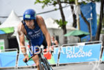 Giovanni Sasso during the bike portion of the 2016 Rio…
