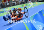 Geert Schipper during the bike portion of the 2016 Rio…