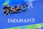 Joseph Townsend during the bike portion of the 2016 Rio…