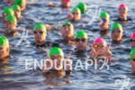 "Swimmers showing ""W"" before start at the 2016 Ironman Wisconsin…"