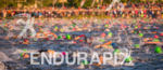 Swimmers in front of crowds at the 2016 Ironman Wisconsin…