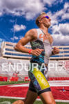 Clay Emge racing along in first place through Bucky Stadium…