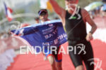 Age groupers arrive at the finish of the 2016 Beijing…