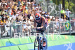 Patricia Collins during the bike portion of the 2016 Rio…