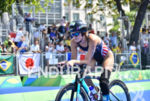 Allysa Seely during the bike portion of the 2016 Rio…