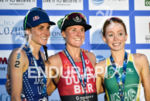 Flora Duffy during the podium portion of the 2016 WTS…