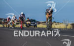 Sebastian Kienle leads  group on the bike at the Ironman…