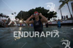 Tine Deckers prepares for the swim start at the 2016…