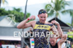 Ben Hoffman during the swim portion of the 2016 Ironman…