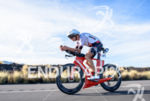 Michael Weiss during the bike portion of the 2016 Ironman…