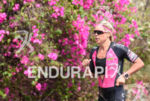 Michelle Vesterby during the run portion of the 2016 Ironman…