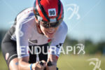Astrid Steinen during the bike portion of the 2016 Ironman…