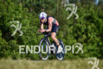 Ben Collins during the bike portion of the 2016 Ironman…