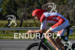 Franz Loeschke during the bike portion of the 2016 Ironman…