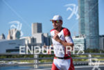 Franz Loeschke during the run portion of the 2016 Ironman…