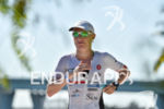 Astrid Steinen during the run portion of the 2016 Ironman…