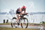 Rebeccah Wassner during the bike portion of the 2016 Ironman…