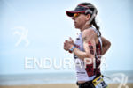 Rebeccah Wassner during the run portion of the 2016 Ironman…