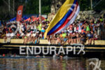 Men's pro swim at the 2016 Ironman 70.3 Cartagena in…