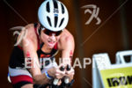 Lauren Goss during the bike portion of the 2016 Ironman…