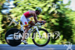 David Guerte during the bike portion of the 2016 Ironman…