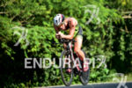 Davide Giardini during the bike portion of the 2016 Ironman…