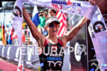 Lauren Goss during the finish portion of the 2016 Ironman…