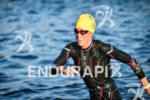 Alicia Kaye during the swim portion of the 2017 Ironman…