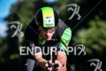 Lionel Sanders during the bike portion of the 2017 Ironman…