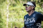 Jesse Thomas during the run portion of the 2017 Ironman…
