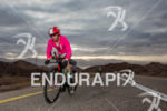 Rebeccah Wassner (USA) on bike climbing out of Eilat during…