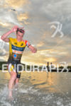Alistair Brownlee exist the swim at the 2017 Super League…