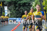 Josh Amberger leads a group on the run leg at…