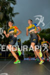 Javier Gomes leads athlete on the run leg of  the…