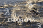 Age groupers during the swim leg at the 2017 Ironman…