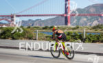 Lauren Goss (USA) on bike at the Escape from Alcatraz…