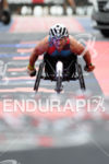 Alex Zanardi (ITA) celebrates at the finish line at the…