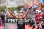 Alexandra Tondeur (BEL) celebrates at the finish line at the…