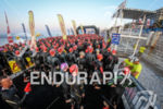 Age Group rolling start at Ironman France in Nice, on…