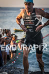 Denis Chevrot exits water at Ironman France in Nice, France…
