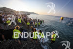 Swim exit at Ironman France in Nice, France on July…