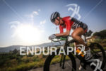 Sarah Jarvis during the bike leg at Ironman France in…